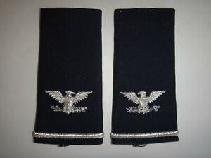 Paire De États-Unis Air Force Colonel Rang Grand Slip-On Épaulettes Jamais Porté