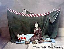 Two Japanese Women, Japan - 1880s - Historic Photo Print