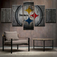 Pittsburgh Steelers Retro 5 pcs Painting Printed Canvas Wall Art Home Decorative