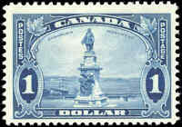 Mint H Canada $1.00 F+ 1935 Scott #227 King George V Pictorial Stamp
