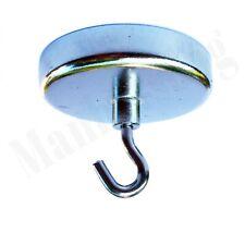 Extra Heavy Duty Magnet With Hook 2 Diameter Base 50lb Horizontal Capacity Us