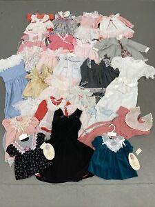VTG 80s 90s CHILDRENS CLOTHING LOT OF 26 KIDS GIRLS DRESSES DRESS MADE IN USA