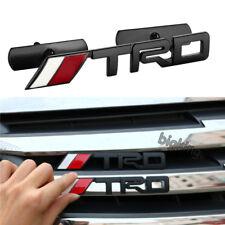 3D Black TRD Aluminium Car Front Hood Grille Emblem Sticker for Toyota Crown 86