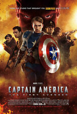 CAPTAIN AMERICA MOVIE POSTER 2 Sided RARE ORIGINAL 27x40 CHRIS EVANS
