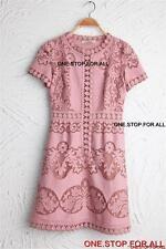 Designer Inspired Lace Dress Valen chen CELEBRITIES-PINK SIZE 6