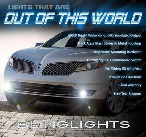 2013 2014 2015 Lincoln MKS 4300K Xenon Halogen Fog Lamps Driving Lights Kit Pair