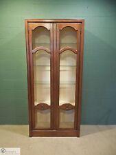 BAKER Hollywood Regency Walnut 2 Door Display Cabinet