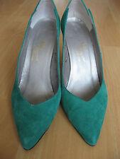 Vintage 70s Green Suede Shoes Rosina Ferragamo Size 7 M