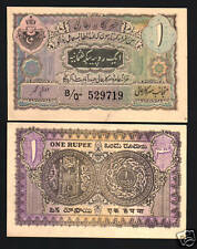INDIA HYDERABAD STATE 1 RUPEE S271 1945 UNC GRADE RARELY OFFERED MONEY BANK NOTE