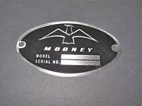 """Classic Mooney Aircraft DEA Required """"Aircraft Identification Data Plate"""""""