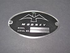 "Classic Mooney Aircraft DEA Required ""Aircraft Identification Data Plate"""