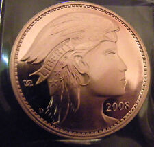 2008 UNA 20 AMEROS PURE COPPER 38 MM PROOF FINISH BY DANIEL CARR PROTOTYPE