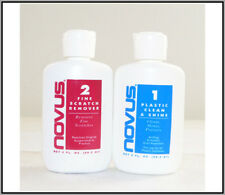 Novus Plastic Scratch Clean & Remover Clean & Shine #1 & #2 2oz Kit