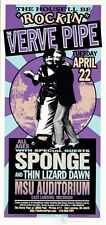 Verve Pipe Concert Handbill Sponge Thin Lizard Dawn Mark Arminski Michigan State