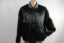 New York Yankees Vintage Majestic Satin Varsity Bomber Jacket XXL