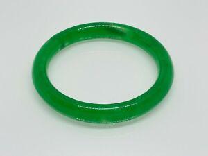 Gorgeous Green Jade/Jadeite Stone Crafted Round Pull On Bangle 19 CM #16304