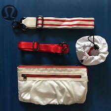 NWOT Lululemon Travel Pooch IV Pouch Waist Bag White/Red