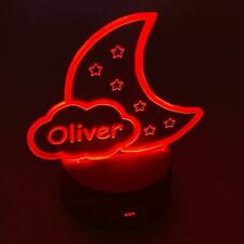 Personalised Cloud and Stars Night Lamp For Baby Room 7 Colour Changing LM-2