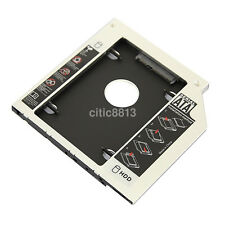 SATA 2nd HDD SSD Caddy Adapter for Laptop 9.5mm Optical Hard Drive Bay au ^