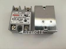 1PCS SSR40DA SSR-40DA Manufacturer 40A ssr relay,input 3-32VDC output 24-380VAC