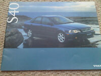 Volvo S40 S 40 Brochure c 1996