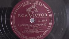 Jussi Bjoerling - 78rpm single 12-inch –RCA Victor #12150 L'Africana