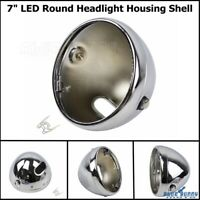 7Inch Motorcycle Headlight Housing Shell Lamp Bulb Bucket For Harley Cafe Racer