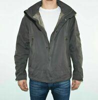 Men's Vintage JEAN PAUL Hooded Grey Cotton Blend Raincoat Jacket Size S