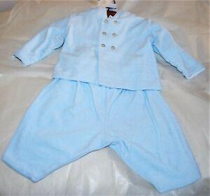 Emile et Rose BNWT Boys Pale Blue 4 Piece - Jacket, Trousers, Body & socks 3-6m
