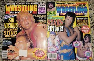 WRESTLING WRINGSIDE Magazine Lot of 2 January 1991 + March 1994 WCW WWF WWE ECW