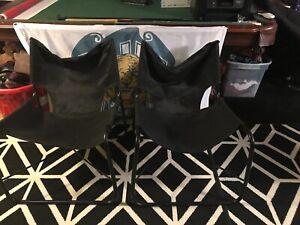 Directors Chairs Standard Height Folding Chair Black Aluminum - 2 PACK
