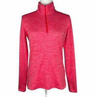 Nike Golf Pullover Quarter Zip Pink Lightweight Womens Medium Thumb Holes