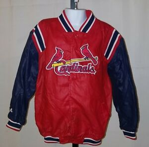 Majestic MLB Louisville Cardinals Nylon Jacket Button Up