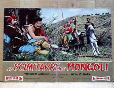 LE SCIMITARRE DEI MONGOLI fotobusta poster Mifune Saga of the Vagabonds AF14