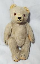 "RARE  STEIFF Antique 9"" Tall Mohair JOINTED TEDDY BEAR Hump Back w/ Growler"