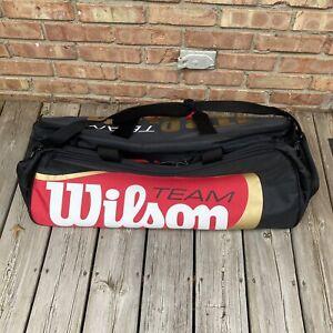 Wilson BLX Tour Duffle Tennis Bag Red/Black/Gold. NWT