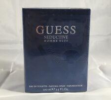 Guess Seductive Homme Blue By Guess 3.3 / 3.4 Oz EDT SP NIB Sealed Cologne Men