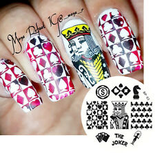 BORN PRETTY Nail Art Stamping Plate The Joker Poker Theme Image Template BP63