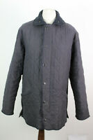 BARBOUR MICROFIBRE POLARQUILT LONG Navy Jacket Size L