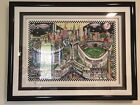 "Charles Fazzino Framed ""Finally A Subway Series"" #50/200 DX - Mets/Yankees"