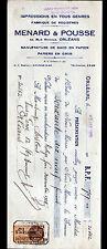 """ORLEANS (45) USINE de SACS en papier / IMPRIMERIE """"MENARD & POUSSE"""" en 1929"""