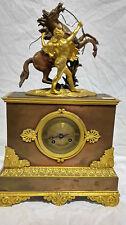 Orologio in bronzo dorato e brunito epoca Napoleone III Francia