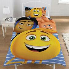Official Emoji Movie Character Reversible Single Duvet Bedding Set