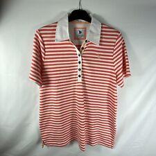 DASH Women's Soft Cotton Striped Short Sleeve T Shirt Blouse Top,  UK 14