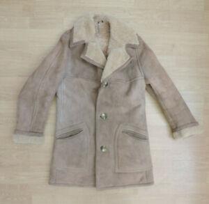 Men's Vintage Morlands Real Sheepskin Shearling Jacket Coat R5-20