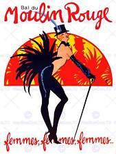 BURLESQUE MOULIN ROUGE BALL EXOTIC DANCE VENUE PARIS ART PRINT POSTER CC1898