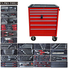 09 US PRO HEAVY DUTY RED STEEL TOOL BOX CHEST + TOOLS CABINET FINANCE AVAILABLE