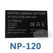 NP-120 D-LI7 DB-43 1800mAh Li-Ion Battery F Fuji Pentax