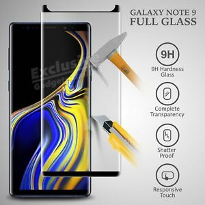 For Samsung Galaxy Note 9 Full Curved 3D Tempered Glass Screen Protector -Black