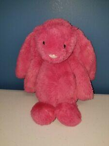 "Jellycat Hot Pink Raspberry Bashful Bunny Rabbit 12"" Plush t3"